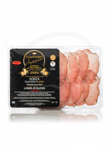"Sliced pork meat (lontza) from Euritania ""Stremmenos Delicatessen"" 100g"