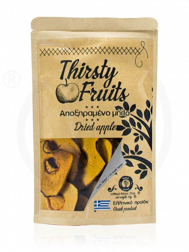 "Sugar-free sliced sun-dried apple from Xylokastro ""Thirsty Fruits"" 25g"