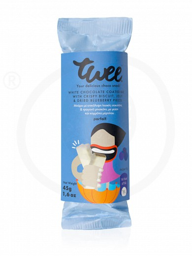 "Snack bar with white chocolate, biscuit & blueberry «Twee» from Serres ""Parfait"" 45g"