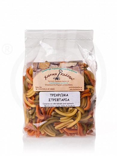 "«Striftaria» traditional pasta from Chios with tomato & spinach ""Chiotiko Kelari"" 500g"