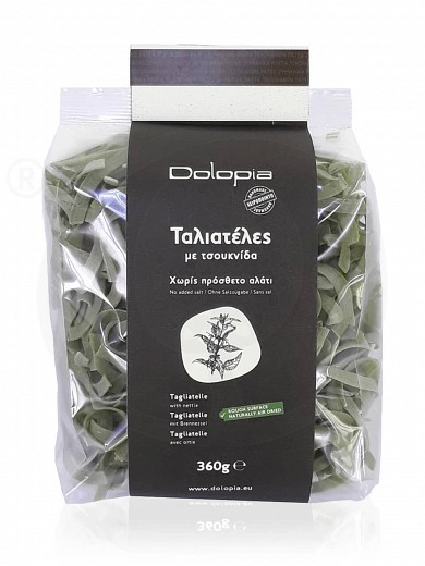 """Tagliatelle with nettle from Fthiotida """"Dolopia"""" 360g"""