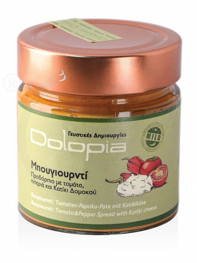 "Τomato, red pepper & «Katiki» cheese spread, from Fthiotida ""Dolopia"" 250g"