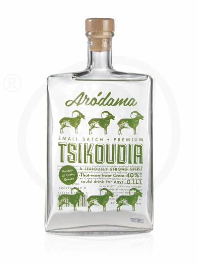 "Traditional Cretan distilled grape spirit «Tsikoudia» ""Arodama"" 100ml"