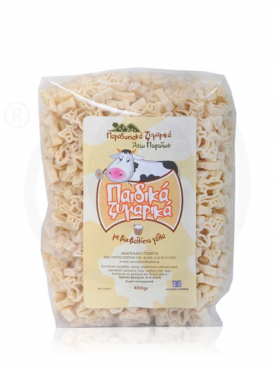 "Traditional kids pasta with buffalo milk, from Serres ""Andreadou Georgia"" 400g"
