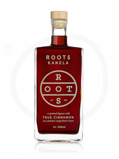 """Traditional liqueur «Kanela» with cinamon from Attica """"Roots"""" 50ml"""