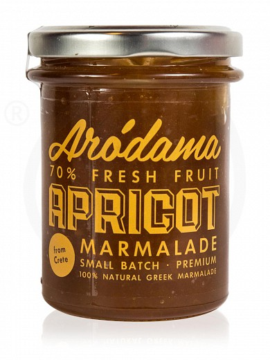 "Traditional premium apricot jam from Crete ""Arodama"" 220g"