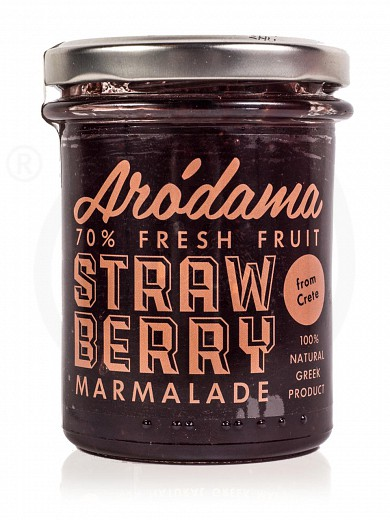 "Traditional premium strawberry jam from Crete ""Arodama"" 220g"