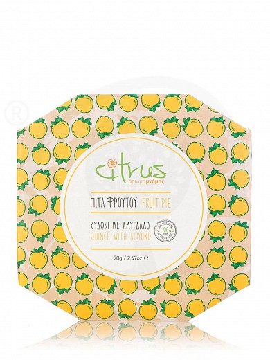 """Traditional quince & almond pie from Chios """"Citrus"""" 70g"""