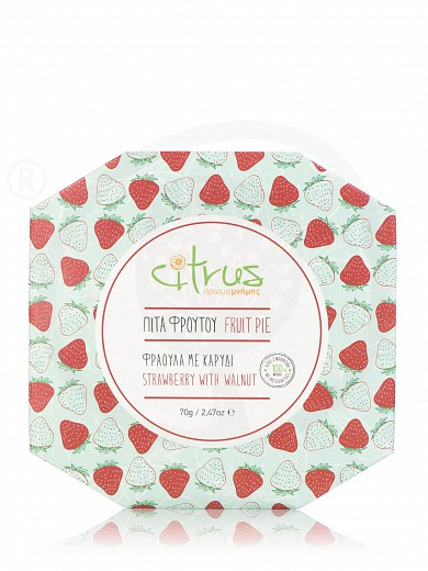 "Traditional strawberry & walnut pie from Chios ""Citrus"" 70g"