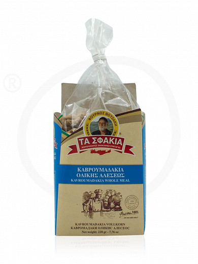 "Traditional wholemeal small rusks (kavroumades) «Ta Sfakia» from Crete ""Votzakis Bakery"" 220g"