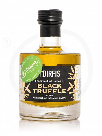 """Extra virgin olive oil infused with black truffle, from Evia """"Dirfis"""" 100ml"""