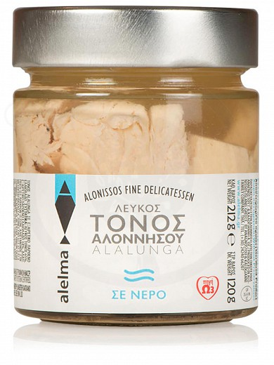 "White Alalunga tuna in water from Alonissos ""Alelma"" 120g"