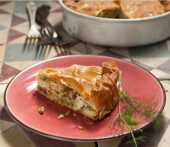 Artichoke pie from Cephalonia