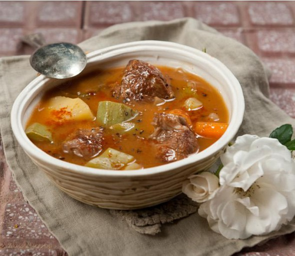 Meat soup from Cephalonia