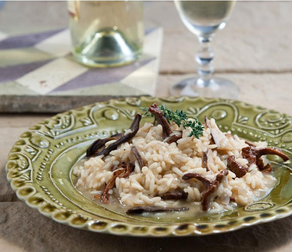 Mushroom risotto with white truffle butter