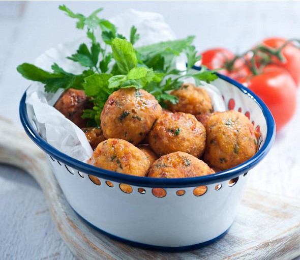 Tomato fritters from the Cyclades