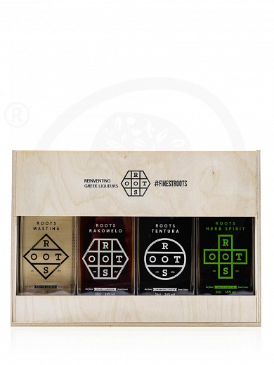 """Gift box with traditional liqueurs """"Roots"""" 4x350ml"""