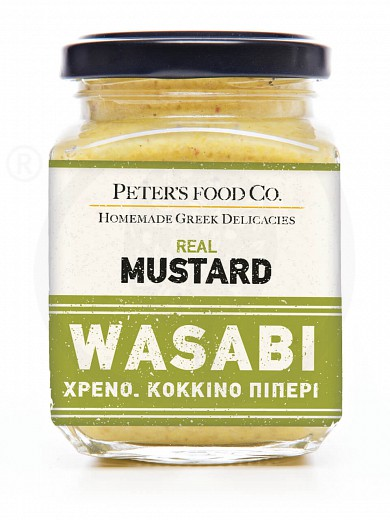 "Gluten-free wassabi mustard with pink pepper ""Peter's Deli"" 210ml"