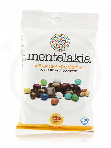 "Milk chocolate dragees «Mentelakia» from Attica ""Viap Mentel"" 45g"