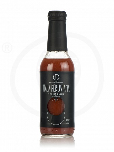 "Natural red tomato juice with 4 vegetables puree, from Beotia «Mala Peruviana» ""Fos Natural Creativity"" 200ml"