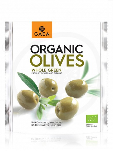 """Organic whole green olives from Chalkidiki """"Gaea"""" 150g"""