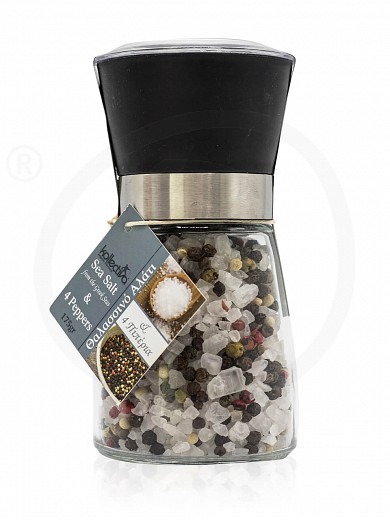 "Sea salt & 4 peppers grinder from Attica ""Kollectiva"" 175g"