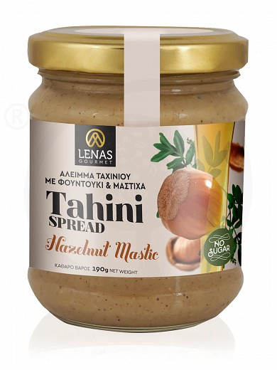 "Sugar free tahini spread with hazelnut & mastic, from Korinthia ""Lena's Gourmet"" 190g"