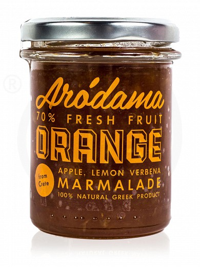 "Traditional premium orange jam with lemon verbena & apple, from Crete ""Arodama"" 220g"