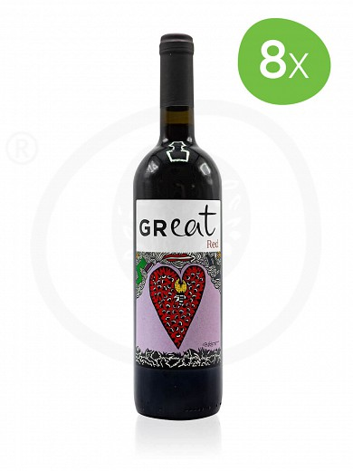 8 pieces of limited edition «GReat» by Yoleni's Red Wine 750ml