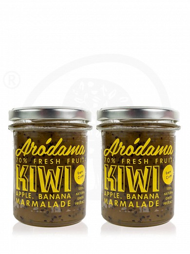 """Arodama Combo"" 2pcs of premium kiwi, apple & banana jam 220g"