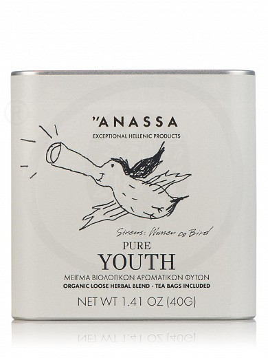 "Blend of organic herbs «Pure Youth» from Attica ""Anassa Organics"" 40g"