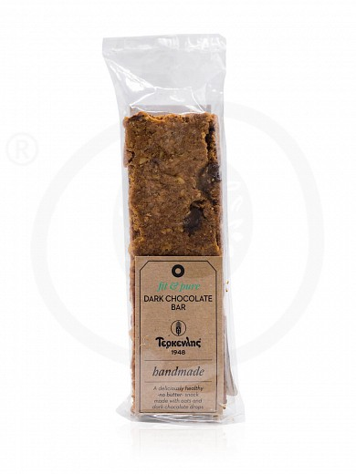 """Cereal bar with chocolate pieces «Pure & Fit» from Thessaloniki """"Terkenlis"""" 80g"""
