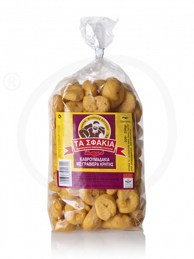 "Cretan traditional small rusks (kavroumades) with graviera cheese ""Votzakis Bakery"" 200g"