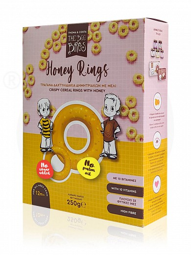 "Crispy cereal rings with honey, from Evia «The Bee Bros» ""Stayia Farm"" 250g"