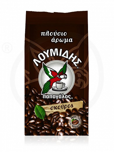 "«Dark» Greek coffee ""Loumidis Papagalos"" 194g"