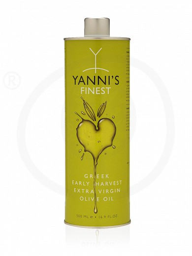"Extra virgin olive oil «Finest» from Chalkidiki ""Yannis"" Tin 500ml"