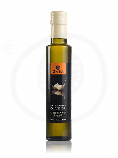 "Extra virgin olive oil with garlic aroma ""Gaea"" 250ml"