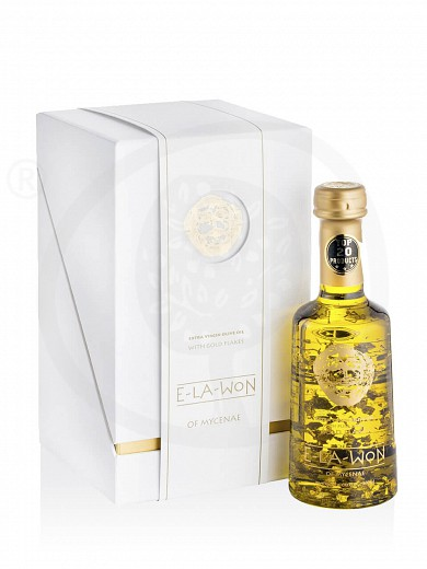"Extra virgin olive oil with gold flakes «Luxury» from Attica ""Elawon"" 250ml"