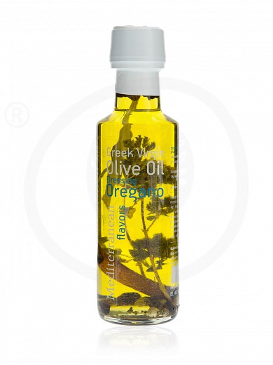 """Extra virgin olive oil with oregano «Mediterranean Flavors» from Thessaloniki """"Nature Blessed"""" 100ml"""