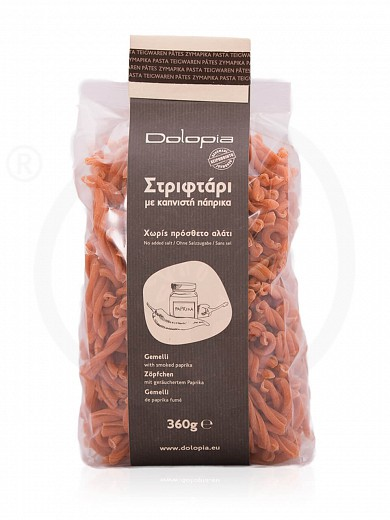 """Gemelli with ground red smoked pepper from Fthiotida """"Dolopia"""" 360g"""