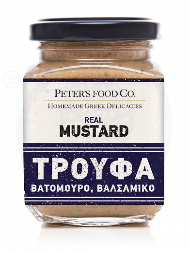 "Gluten-free truffle mustard with raspberry & balsamic vinegar ""Peter's Deli"" 210ml"