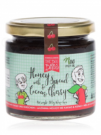 "Gluten & sugar-free honey spread with cacao & cherry, from Evia «The Bee Bros» ""Stayia Farm"" 300g"