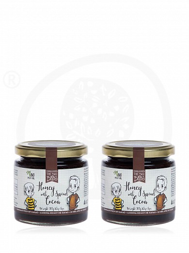 """""""The Bee Bros Combo"""" 2pcs of gluten & sugar-free honey spread with cacao 300g"""