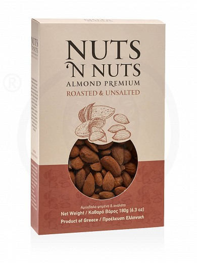 "Greek roasted & unsalted almonds from Attica ""Nuts 'n Nuts"" 180g"