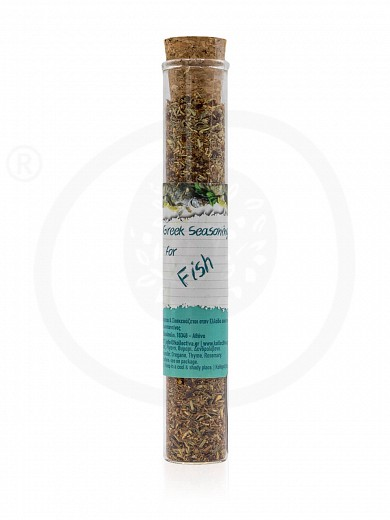 "Greek seasoning for fish in test tube from Attica ""Kollectiva"" 17g"