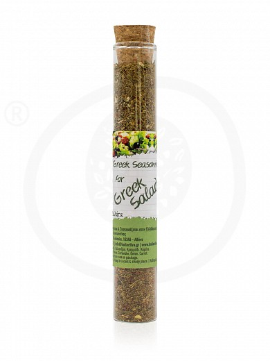 "Greek seasoning for salad in test tube from Attica ""Kollectiva"" 17g"