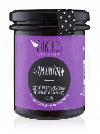 "Handmade chutney with caramelized onions & balsamic vinegar «Onion Porn», from Attica ""Jukeros"" 250g"