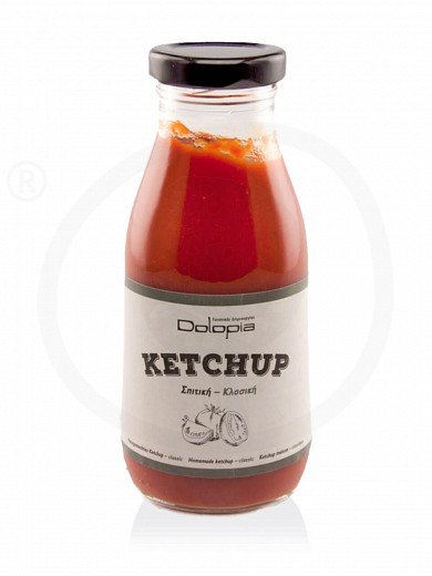 """Homemade classic ketchup from Fthiotida """"Dolopia"""" 280g"""
