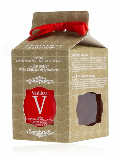 "Honey with cinnamon & raisins from Evia «Vasilissa» ""Stayia Farm"" 250g"