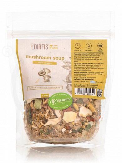 "Mushroom soup with vegetables from Evia ""Dirfis"" 135g"